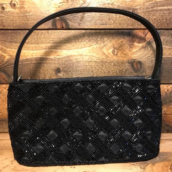 a7edbc4591f KMQ Bags   Collection Black Purse With Bead Detailing   Poshmark